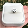 .97ct Late Victorian Antique Cushion Cut Collet Component 8