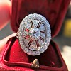 2.23ctw Old European Cut Diamond Filigree Ring 0