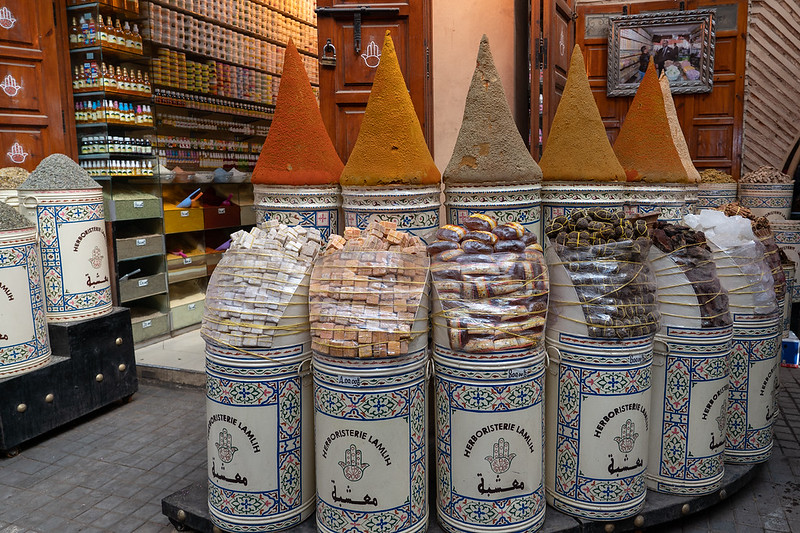 Spices in Marrakech, Morocco