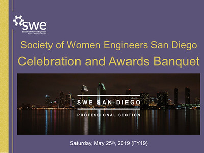 FY19 SWE San Diego Banquet - A Year in Review