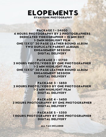 old Elopement Pricing