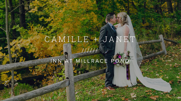 CAMILLE + JANET ////// INN AT MILLRACE POND