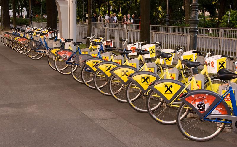 Vienna's public bicycles.