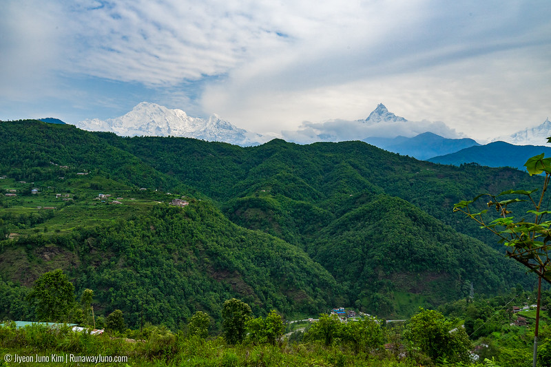 A view of the Himalaya Mountain Range