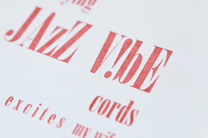 Letterpress Pangrams