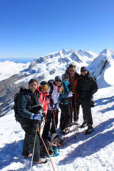 On the summit of Breithorn.