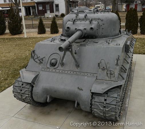 Veterans Memorial Park - Emporia, KS - M4A3(105) & UH-1A Huey
