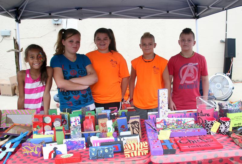 Pelahatchie Elementary School Venture Program raises money to go to Washington Jacey Cooper, Katlyn Tucker, Gabbi Walters, Cass Walters, & Matthew Day