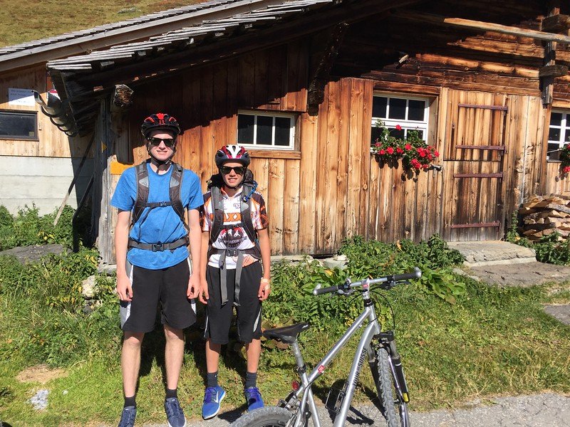 Henry and Jack on the Wengen mountain bike trip