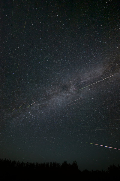 Wide Angle Composite of the Perseids