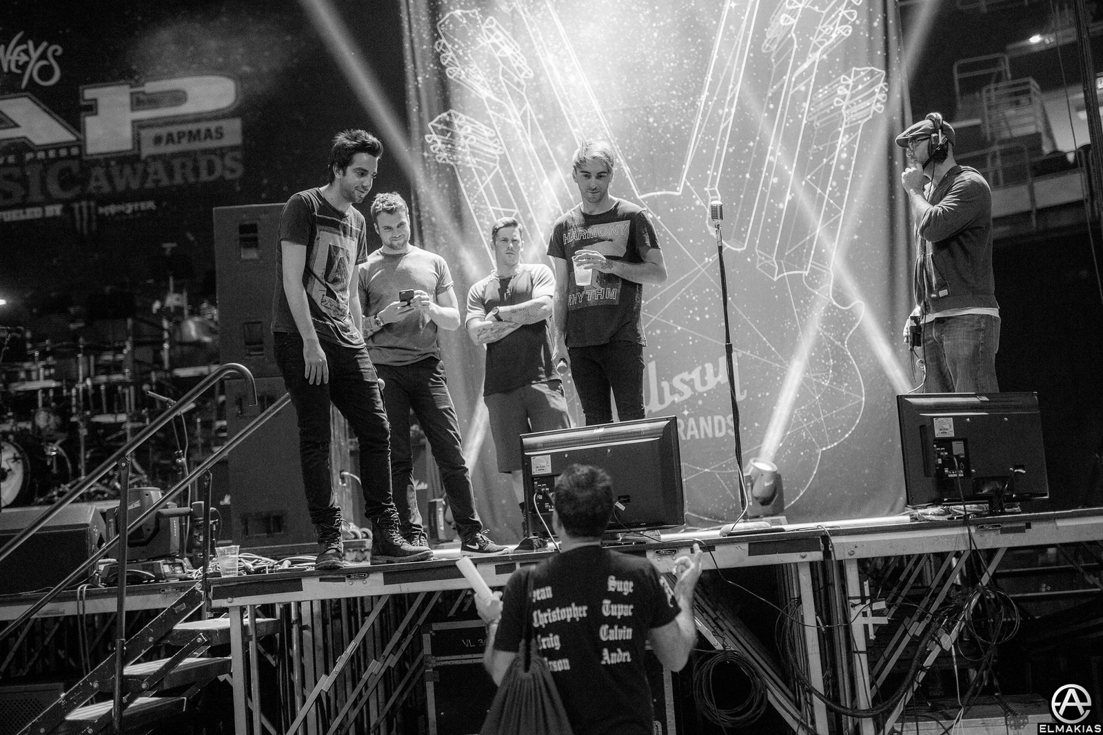 All Time Low at rehearsals for the Alternative Press Music Awards 2015
