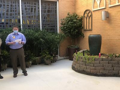 Infirmary Reflection Garden Dedication (Dec. 2020)
