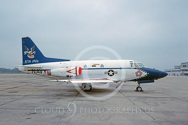 U.S. Navy T-39 Sabreliner Airplanes in Bicentennial Color Scheme