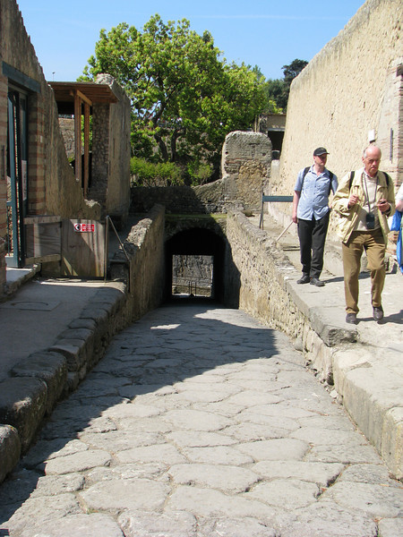 Street leading to docks in Herculaneum