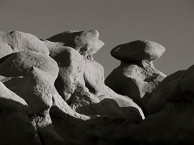 Goblin Valley State Park, Utah - Monochrome