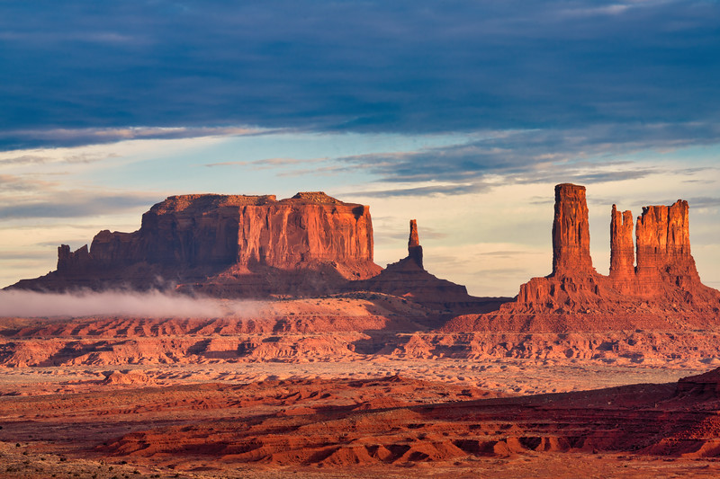 Mist and Rock Formations from North Window, Monument Valley