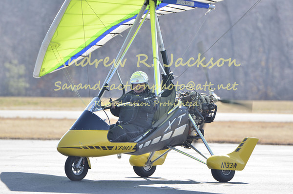 2-18-12 John Williams returns from transstate ultralight plus jamestown airport friends