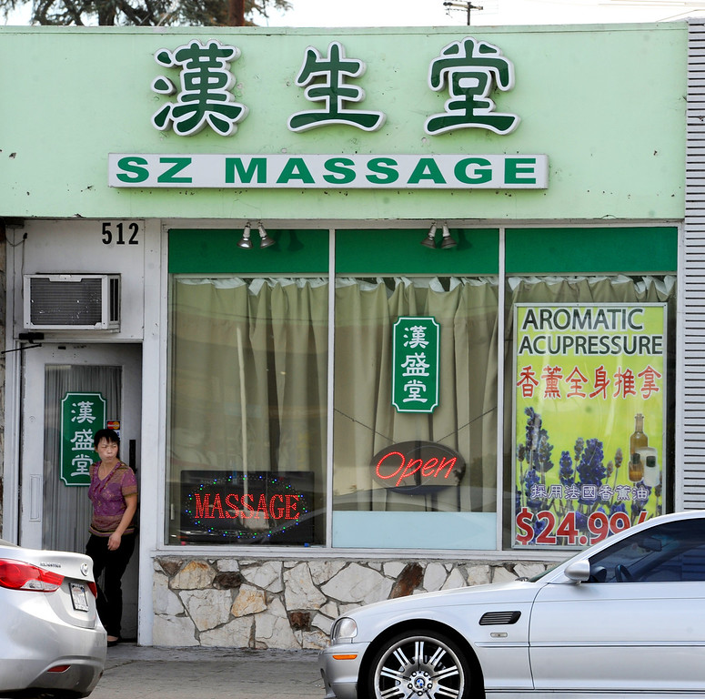 . Massage establishments on Valley Boulevard in San Gabriel. City of San Gabriel received a report on massage establishments and  there are 52 of them in the small city Thursday, November 7, 2013. Photo by Walt Mancini/Pasadena Star-News)
