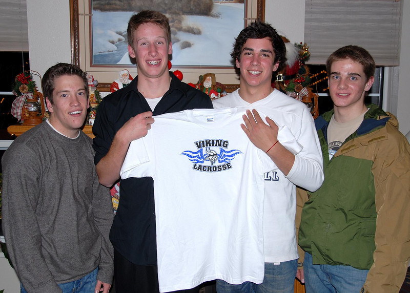 12/18/07 – Sean and his friends got together to shoot this shot for their friend Scott who's in Italy. His Dad is serving as mission president in Rome. The guys got Scott this shirt and sent it with the photo for Christmas.