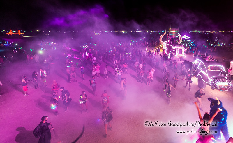 EDM, electronic dance music, was a mainstay at Burning Man.