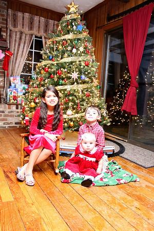 Ella, Cal and Shelby - Christmas 2011
