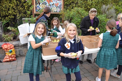 Third-Grade Burke's Gives Back Food Pantry | December 17, 2015