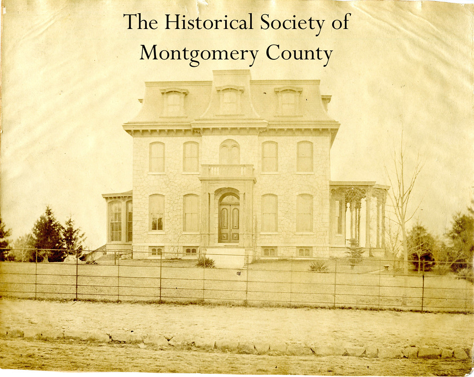 . This photo from the Historical Society of Montgomery County shows the Boyer House in Norristown. The date of the photo is unknown, but the house\'s location on Sandy Street later became Riverview Hospital.