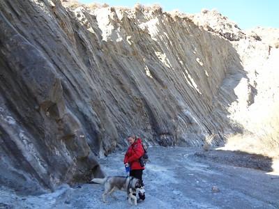 Winter hike in the desert badlands of Tabernas in Almeria