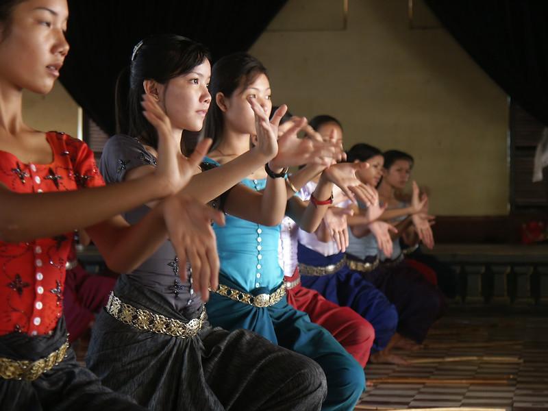 Dance class in Phnom Penh.