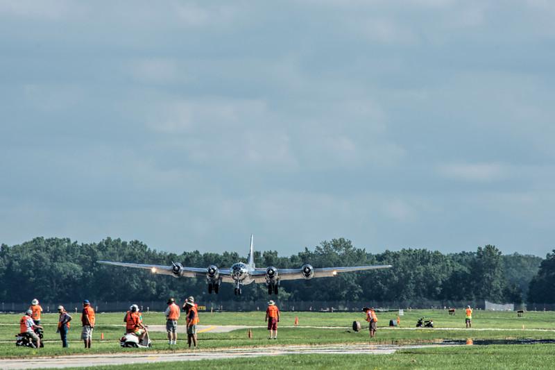 "B-29 ""DOC"" arrives at Oshkosh 2017"