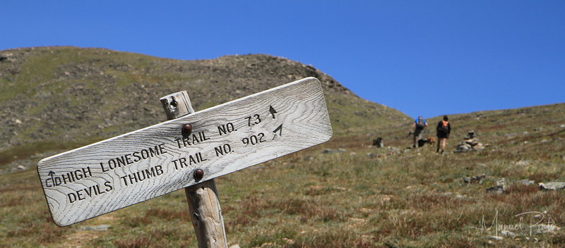 Continental Divide - this way to the Devil's Thumb Lake, 2012