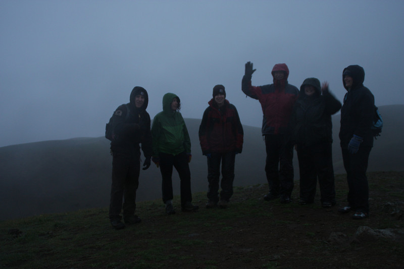One group of hikers at the top of the Boccardo Loop trail.