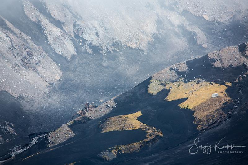 Tolbachik volcano landscape