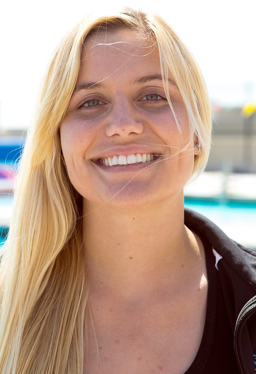 . Shannon Golden of Los Osos High School has been named to The Sun\'s All-Valley Girl\'s water polo team. Photo by Frank Perez, for The Sun.
