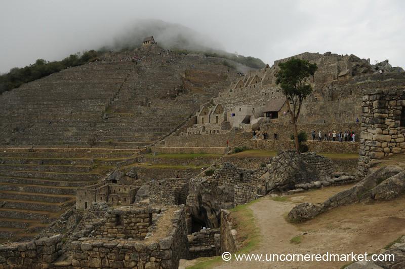 Fog Lifts Over Machu Picchu - Peru