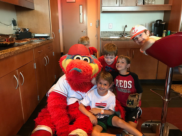 Luca's 7th Birthday Party at the Reds Game
