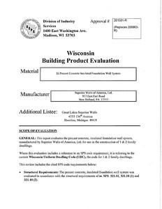 Wisconsin Evaluation Sheet