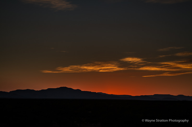 Sunset over Ft Davis Moutains