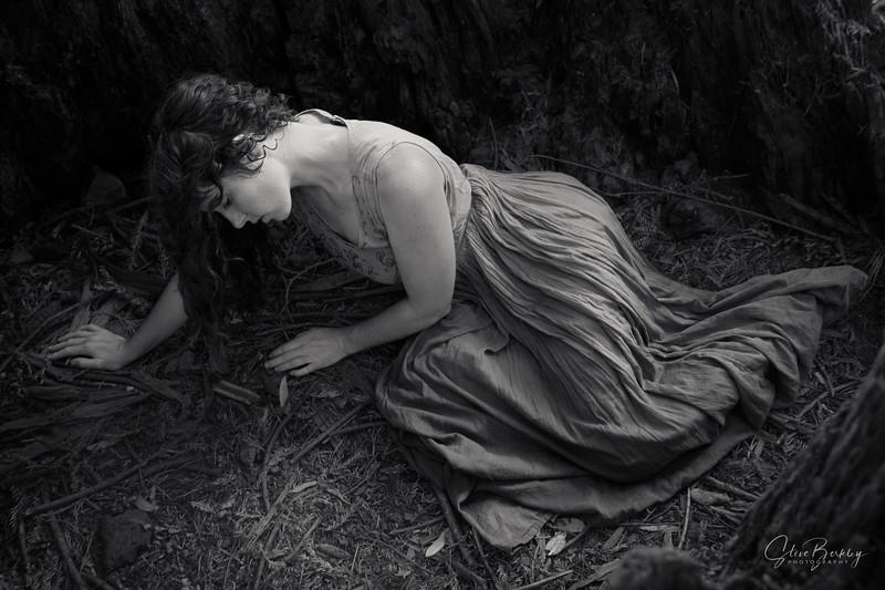 Sleeping Beauty Awakens (B&W)