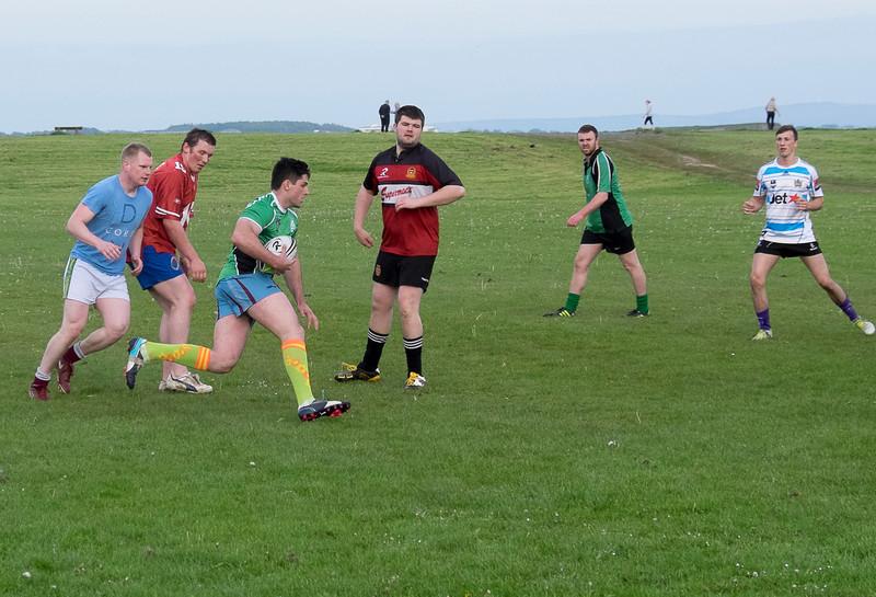 Gaelic football practice.