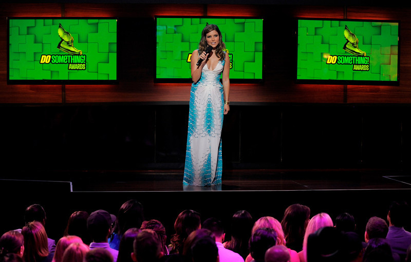 . Host Sophia Bush speaks on stage at the Do Something Awards at the Avalon on Wednesday, July 31, 2013, in Los Angeles. (Photo by Chris Pizzello/Invision/AP)