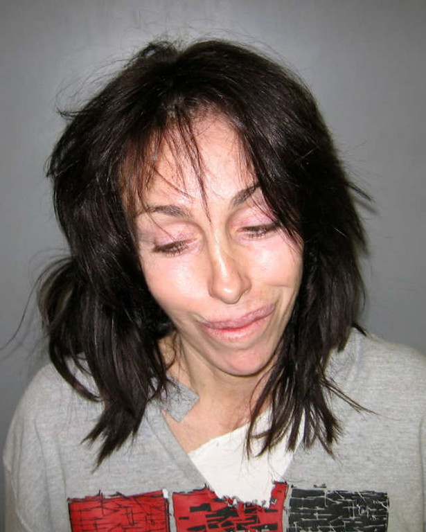 . In this undated file photo orginially released Thursday, Feb. 7, 2008, by the Nye County Sheriff\'s Office, former Hollywood madam Heidi Fleiss is shown in a booking mug  in Pahrump, Nev.  The Nye County district attorney on Thursday, July 10, 2008 filed a two-count complaint accusing the 42-year-old Fleiss of unlawful use of methamphetamine and possession of the painkiller hydrocodone without a prescription stemming from a February traffic stop in the rural Nevada town where she lives. (AP Photo/Nye County Sheriff\'s Office)