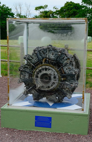 Engine from a crashed C47 from D-Day