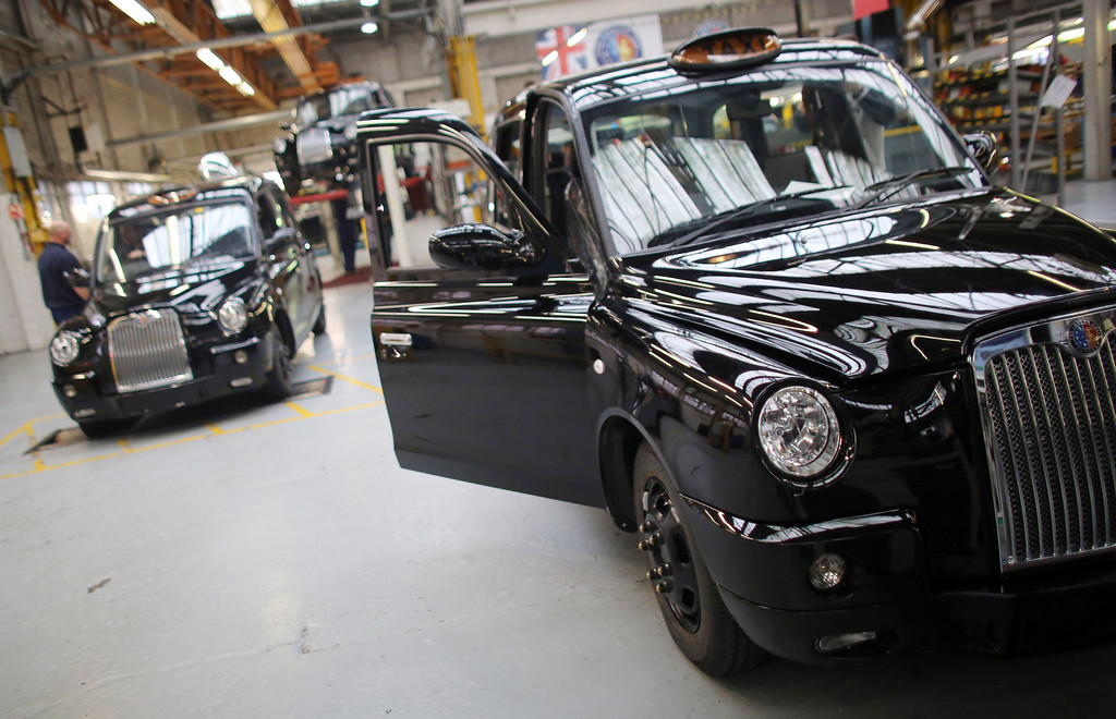 . TX4 (Euro 5) London Taxi models are inspected as they come off the production line at The London Taxi Company on September 11, 2013 in Coventry, England.   (Photo by Matt Cardy/Getty Images)