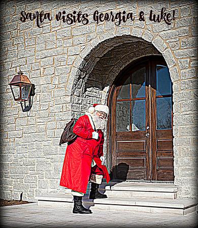 Santa visits Georgia & Luke! (2014)
