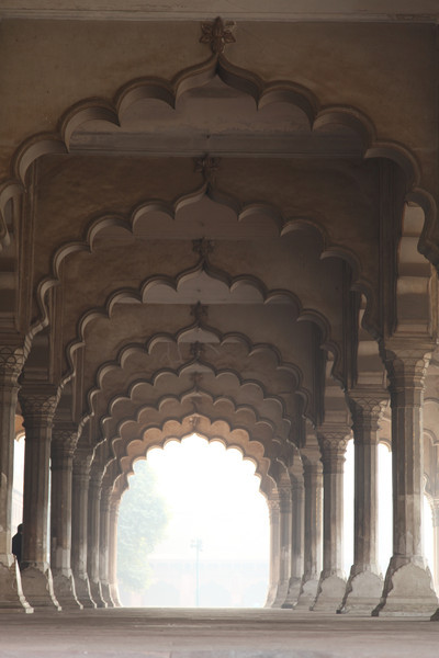 Detail of the arches inside the fort.