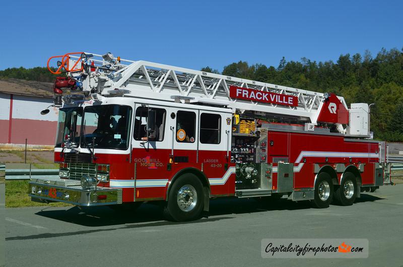 Frackville (Goodwill Hose Co. 1) Ladder 43-20: 2010 HME/Rosenbauer 100'