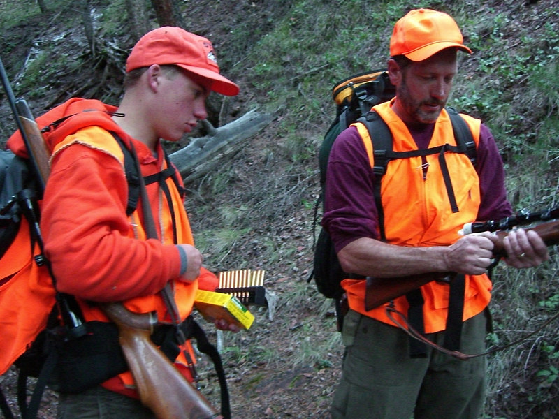 Both Ben and Rick had bolt-action rifles this year. Loading up with 30.06 ammo.