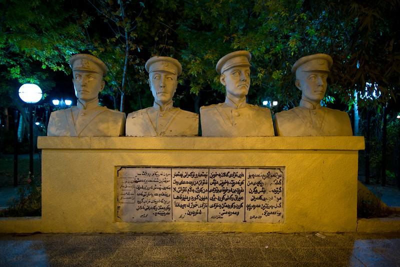 A monument in the city of Sulaymaniyah to Kurdish army officers who defected from the Iraqi army to the Kurdish resistance. When Saddam announced an amnesty they turned themselves in, only to be sent to Baghdad to be executed.