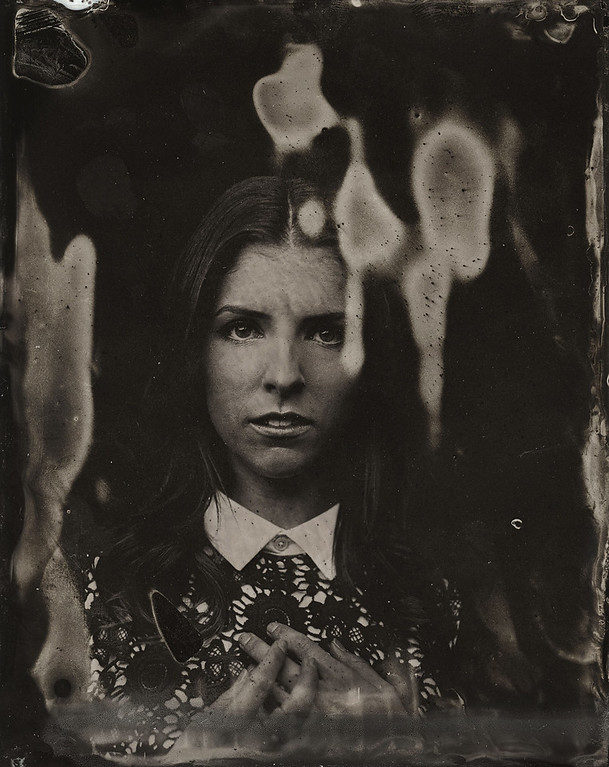 . Anna Kendrick  poses for a tintype (wet collodion) portrait at The Collective and Gibson Lounge Powered by CEG, during the 2014 Sundance Film Festival in Park City, Utah. (Photo by Victoria Will/Invision/AP)